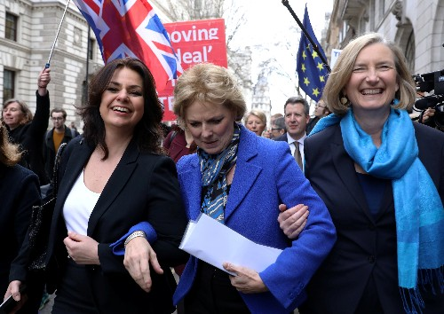 Three UK Conservatives quit party in protest at 'disastrous Brexit'