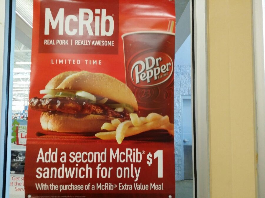 McRibwich is back bitch! So good, and so bad.