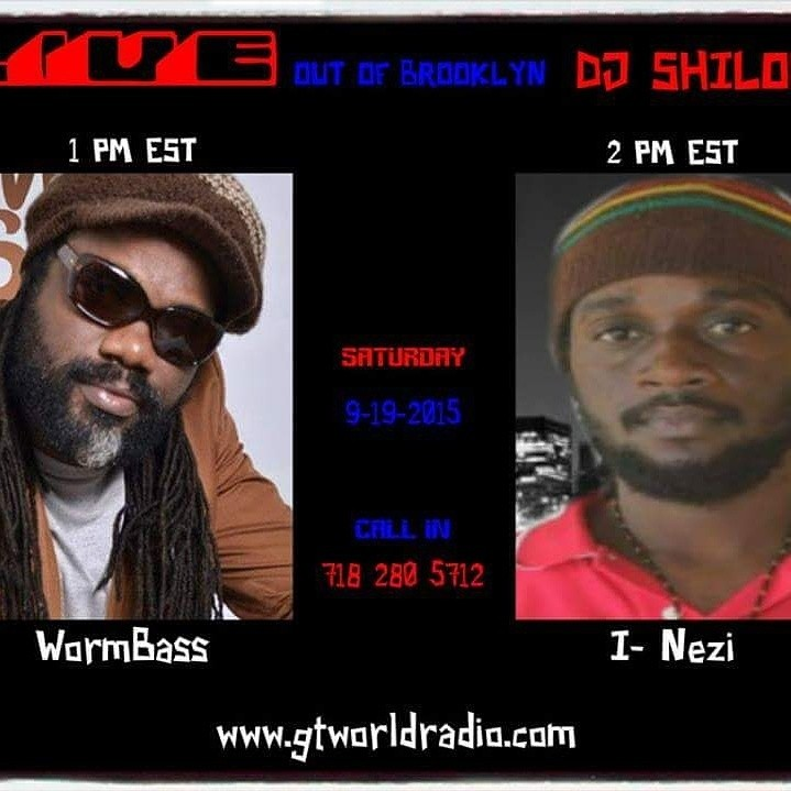 This Saturday Sept. 19th tune into the DJ Shiloh show on GTworldradio Station at 1 PM EST for an interview with legendary bass player, turned singer, Wormbass. DJ Shiloh will be talking to Delroy WormBass about his new CD and listening to some of his music that will be coming out on the new CD 'Reggaeman'. Don't miss the show! WORMBASS - ONLY YOU