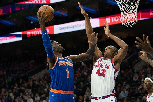 Harris powers short-handed Sixers past Knicks