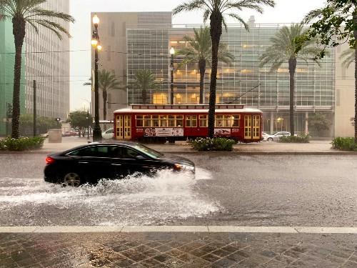 Heavy rains flood New Orleans streets in taste of storm ahead