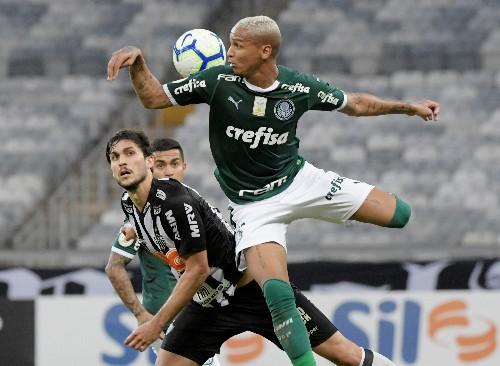 Soccer: Palmeiras win 2-0 to go top of Brazil's Serie A