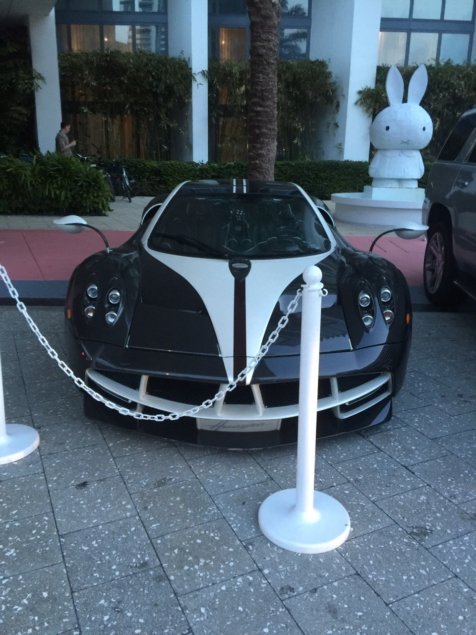 Pagani 1 of 1 if 1 spotted in Miami beach, FL. Purchased at over $17M. The king(owner) lives up in Connecticut.