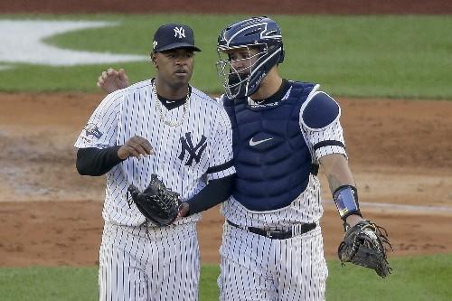 Yanks' Boone defends catcher Sánchez as 'excellent' defender