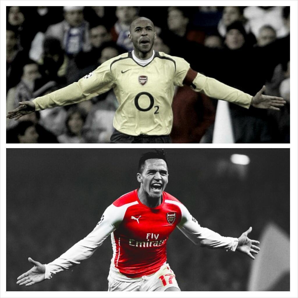 Henry admite que Alexis puede ser otra leyenda Gunner. 'Si lo sigue haciendo como lo ha hecho hasta ahora, no cabe duda de que será la próxima leyenda del Arsenal'