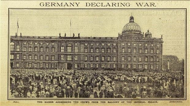First World War centenary: how the events of August 1 1914 unfolded
