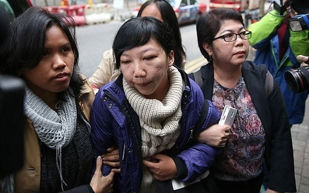 Hong Kong woman found guilty of abusing Indonesian maid