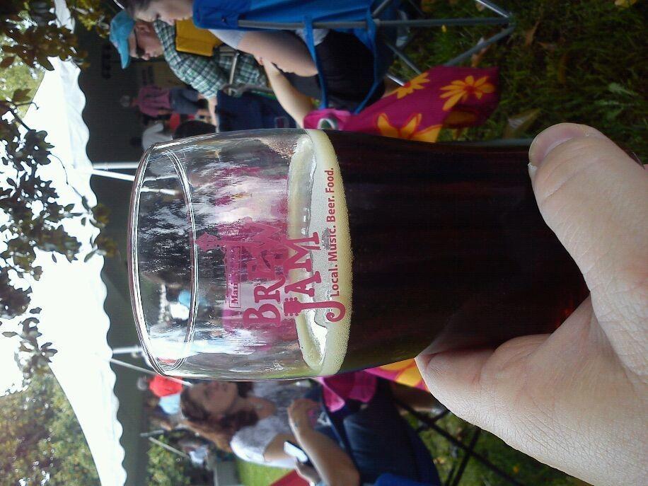1st beer of Brew Jam. Devils Backbone Dark Abbey.