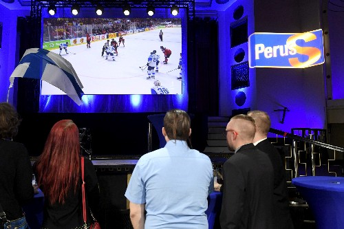 'The Groke' turns Finland's EU election night into World Cup hockey party