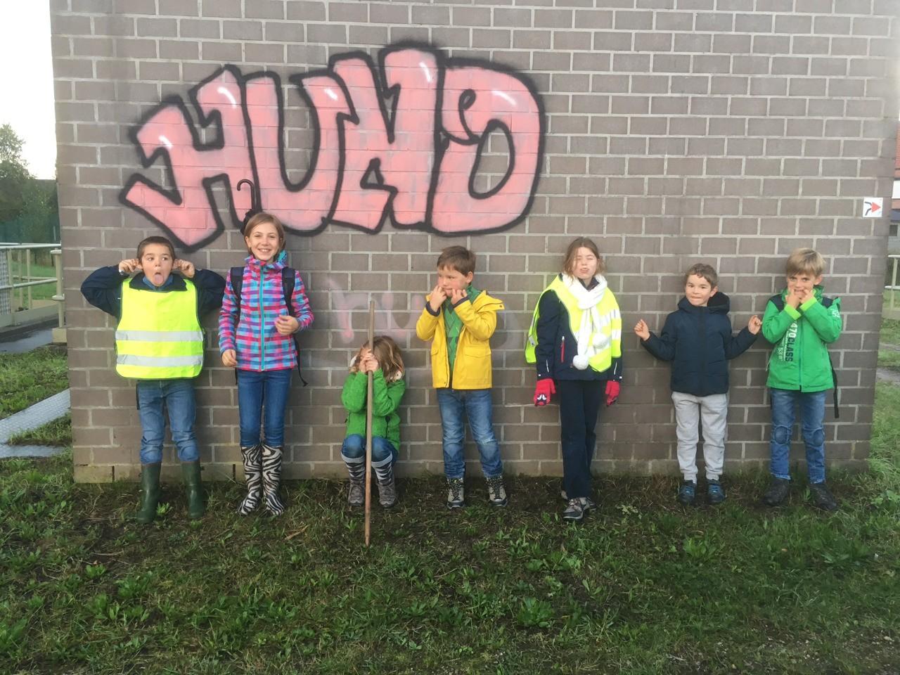 Dauwtrip Denderbelle 2017 ook de kids stappen mee.