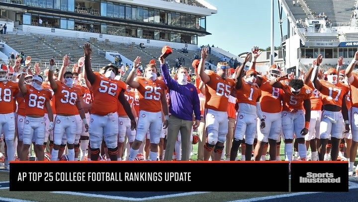 Clemson Remains at Number One in the AP Top 25 College Football Rankings