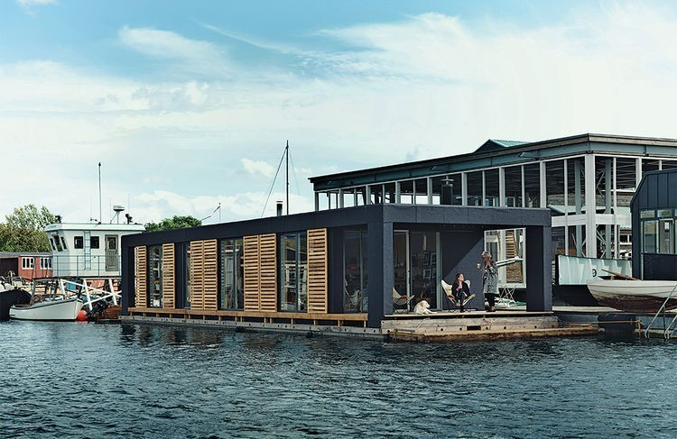 Articles about residents tiny floating home can dive water two feet bed on Dwell.com - Dwell