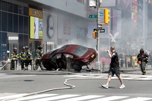 Deadly Car Crash in Times Square: Pictures