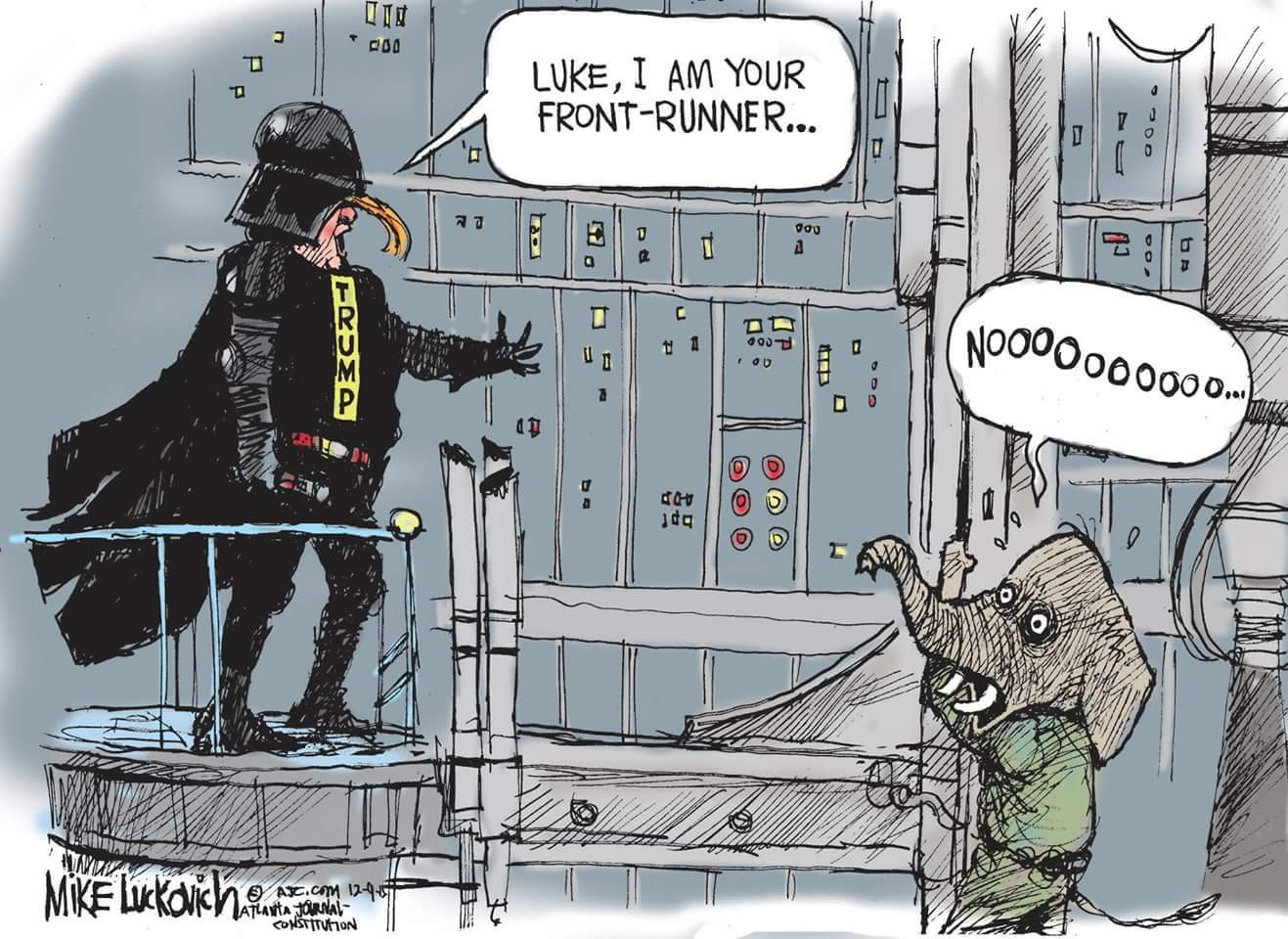 #Trump #GOP - according to #Luckovich... #2016