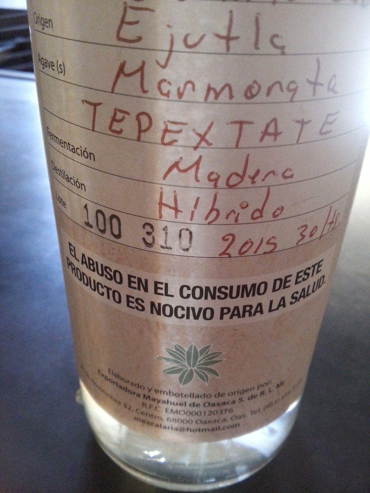 Lo nuevo el In Situ, Tepextate destilado en alambique de olla y cobre. Ven a probarlo. Edición de 20 litros.