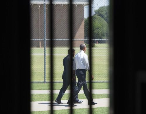 President Obama Visits Prison in Oklahoma
