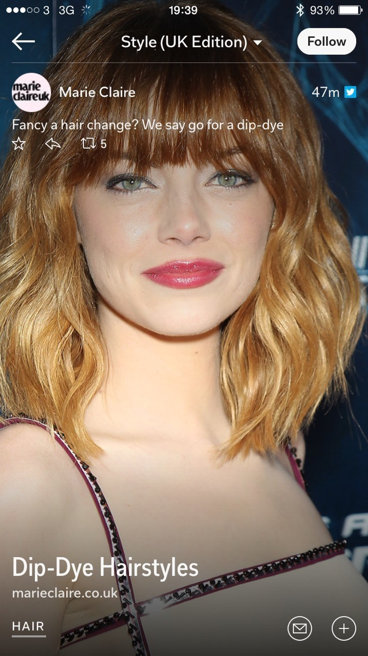 the latest trend for hair this summer is short, dip dyed and choppy