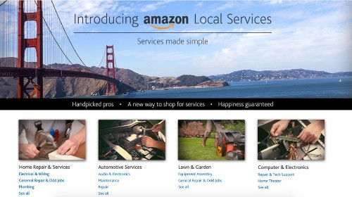 Amazon Quietly Reveals Local Services Push With New Web Page