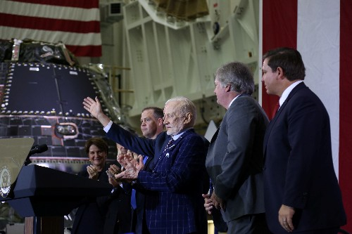 Astronauts hailed as heroes 50 years after historic moon landing