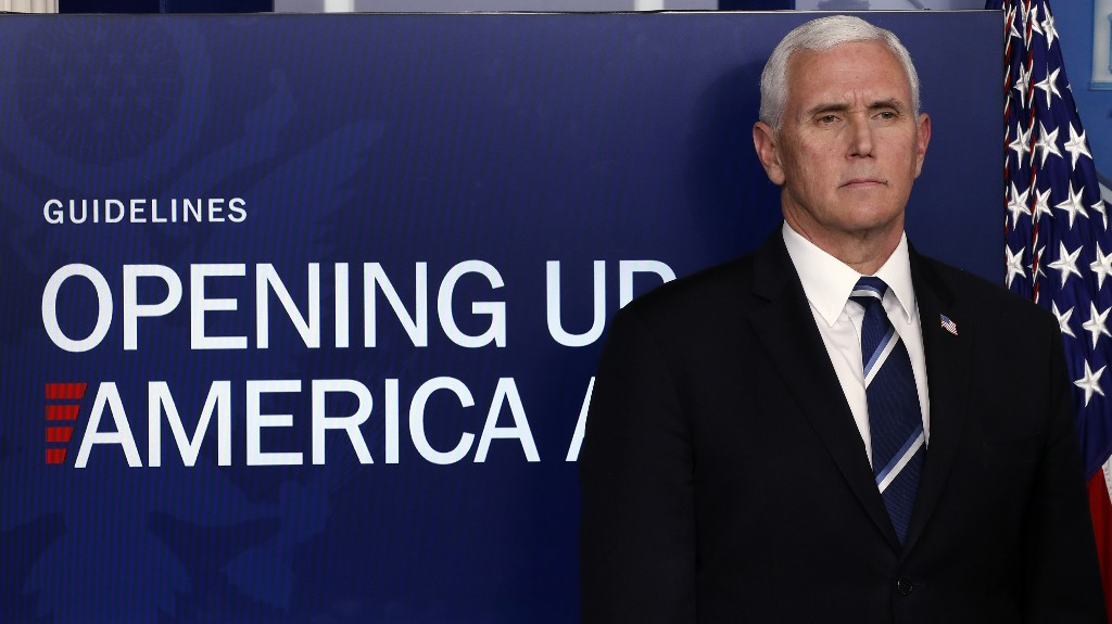'People aren't stupid': Pence's virus spin tests credibility