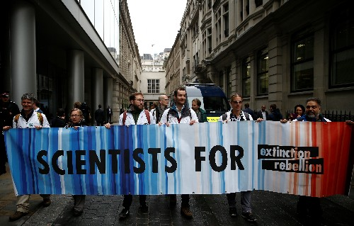 Climate change activists target BlackRock offices in London