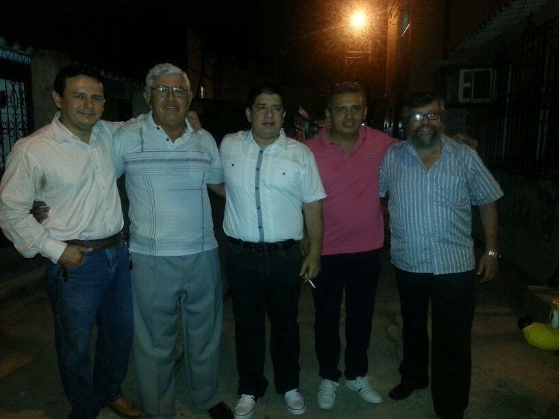 Con mi papá, hermano Alex y cuñados Alfredo y Alejandro.