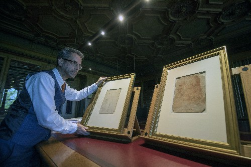 Leonardo drawing, portrait mark 500 years since his death