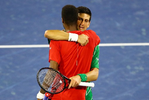 Djokovic saves three match points to set up Dubai final with Tsitsipas