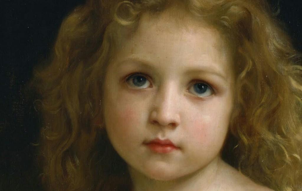 "Detalhe ""Pequena Menina"" William Adolphe Bouguereau, 1878"