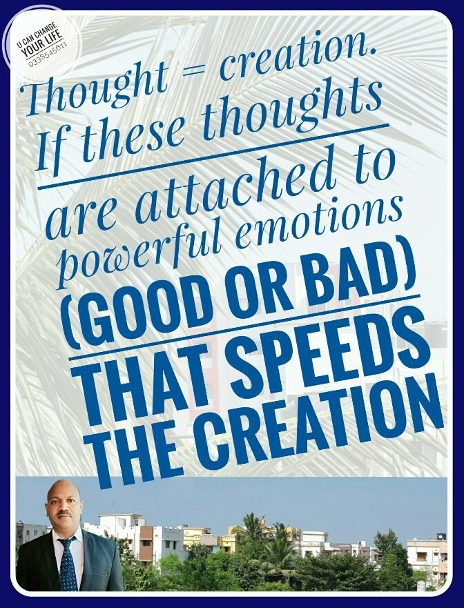 Attach your Good Thoughts to your Emotions