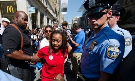 Hundreds of fast-food protesters arrested while striking against low wages