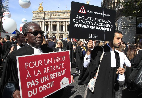 French professionals join forces to protest pension changes
