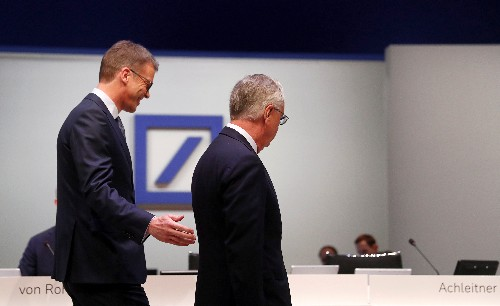 Exit of Deutsche Bank's investment bank chief marks end of era