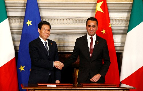 Italy signs deals with China worth 2.5 billion euros, more to come: Di Maio
