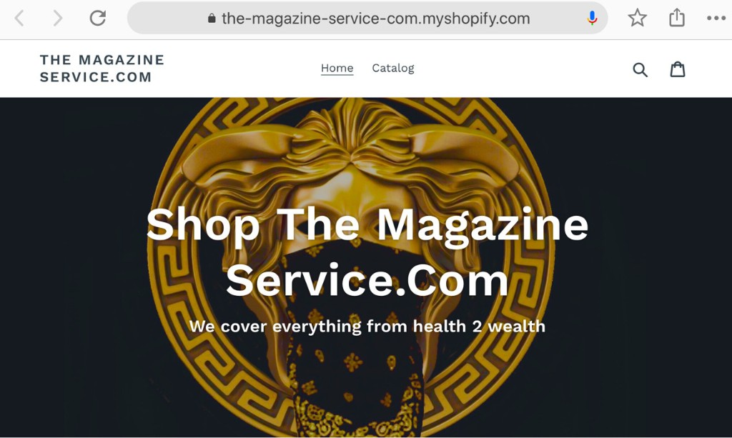 Shop The Magazine Service.Com - cover