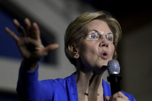 Wall Street feuds with Warren, much to her apparent delight