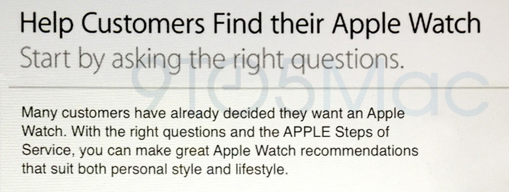 Apple Watch's retail sales pitch revealed: 3 key features, switch to iPhone, focus on bands
