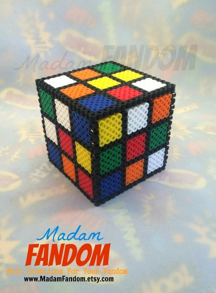 Rubiks Cube Gift Box with Lid - Rubik's Cube Table Decor - 80s Party Favors - Groomsmen Gift Ideas - Bridesmaid Gift Ideas