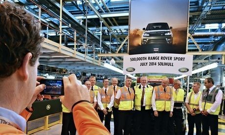UK car industry exporting at record rate