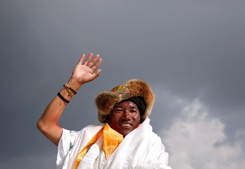 Nepali scales Everest record 24 times: with one more to go