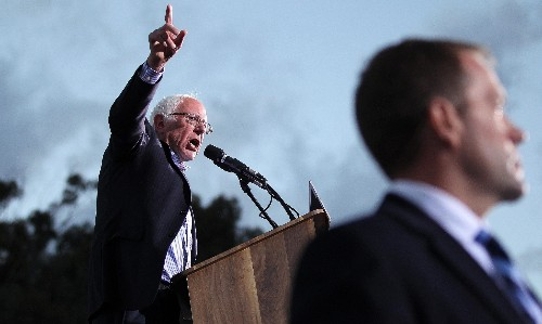 Sanders condemns 'anointment' of Clinton as feud with party intensifies