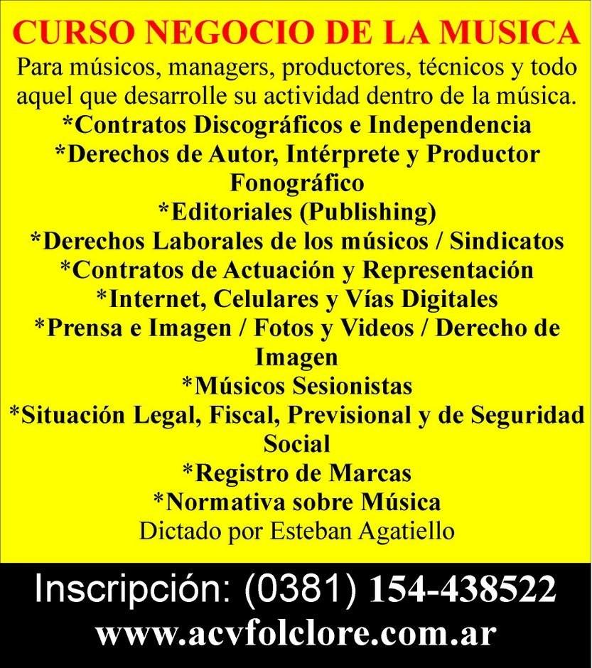 Única Oportunidad en #Tucumán #CursoNegocioDeLaMúsicaIntensivo 17/12/2016 Más información