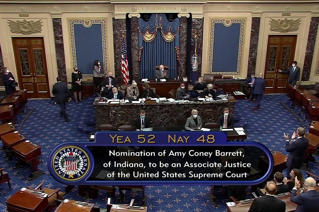 U.S. Senate votes to confirm Supreme Court pick Barrett