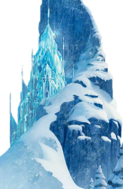 Un castillo de hielo construido por Elsa y el hielo que ella produce, un castillo grande espacioso y bonito