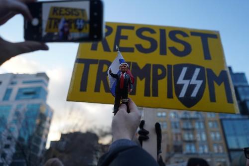 Protesters across U.S. denounce Trump's emergency declaration