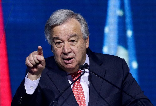 Exclusive: U.N. chief calls on EU to raise 2030 climate goal to 55%
