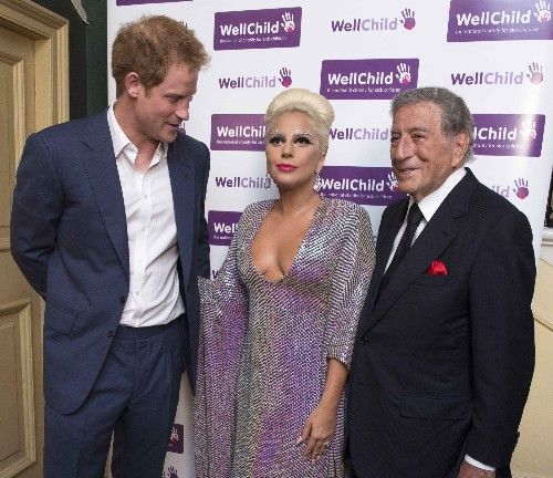 Lady Gaga Meets Prince Harry