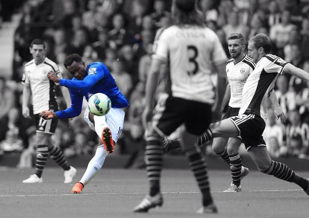 Romelu Lukaku with the soft touch on this beautiful goal