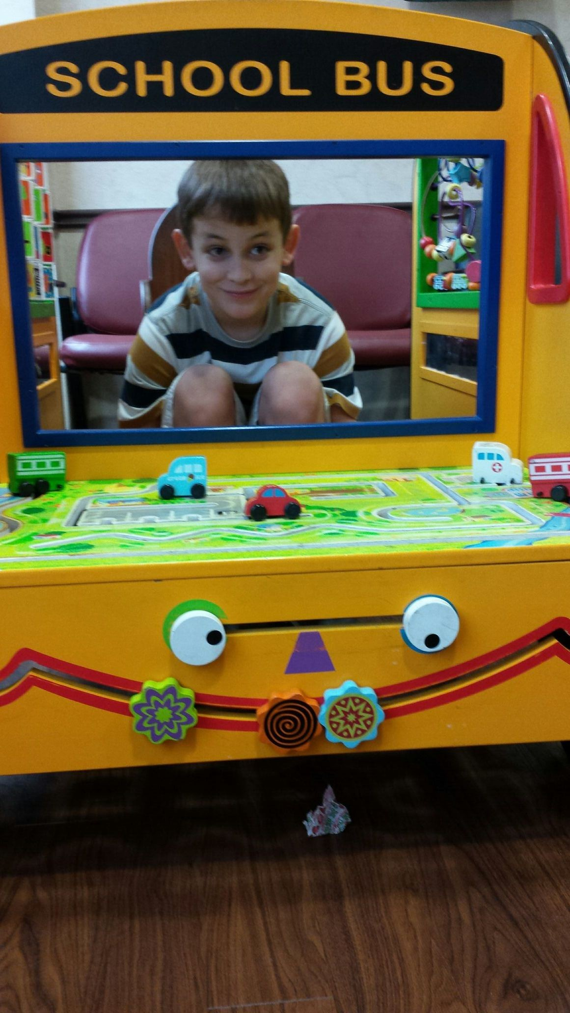 Clay at doc office..neing silly