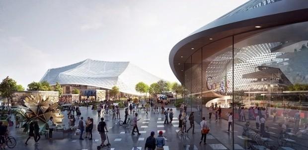 Google's new headquarters: an upgradable, futuristic greenhouse